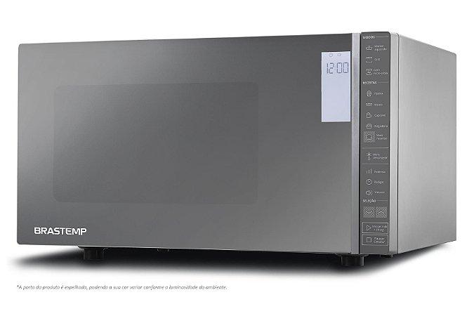 Micro-ondas Brastemp 32L Inox espelhado com Grill e Painel Integrado - BMG45ARANA