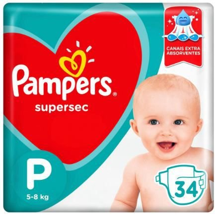 Fraldas Pampers P 34
