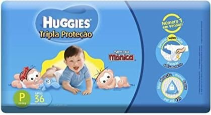 Fraldas Huggies P Tripla proteção