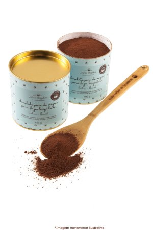 Chocolate puro de origem para fazer brigadeiro - lata 400g (rende até 120 brigadeiros)