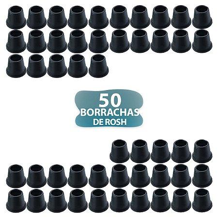 50 BORRACHA PRETA DE ROSH PARA NARGUILE