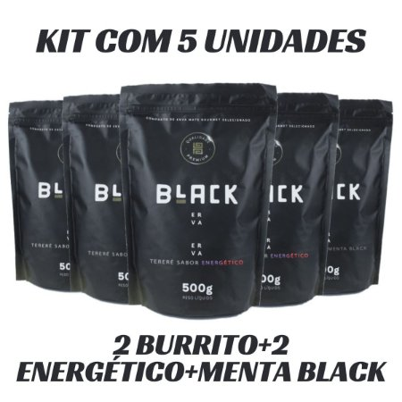 KIT COM 5 ERVA MATE PARA TERERÉ BLACK ERVA