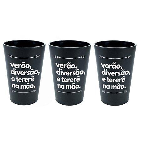 KIT 3 COPOS DE TERERÉ PLÁSTICO 330ML NOSSO TERERÊ