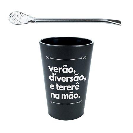 KIT COPO DE TERERÉ PLÁSTICO 330ML + BOMBA DE TERERÉ CLÁSSICA