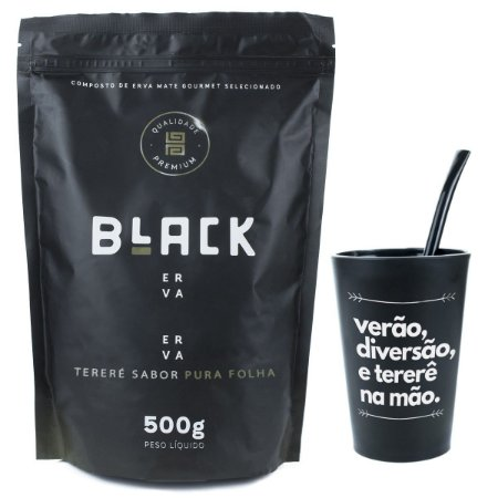 KIT COMPLETO COPO + BOMBA EPOX PRETA 19CM+ BLACK ERVA 500G