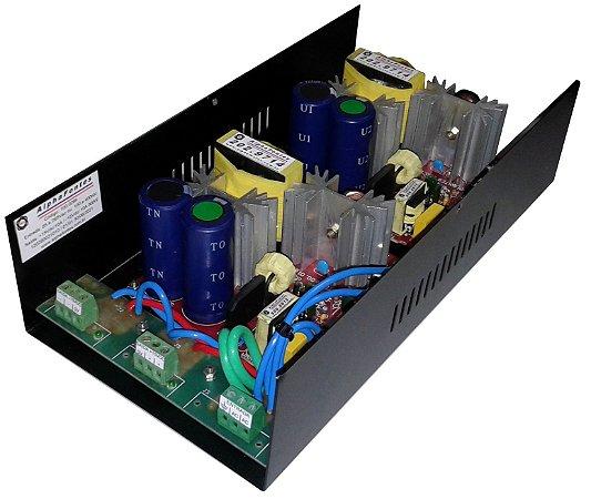 FONTE SIMÉTRICA ENTRADA 85 A 265VAC 2 SAÍDAS ±15VDC; ±24VDC; ±30VDC; ±35VDC; ±48VDC