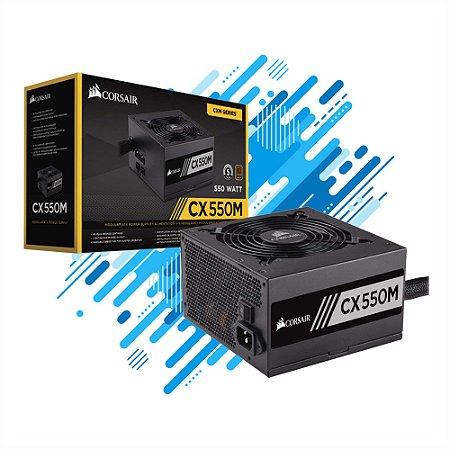 FONTE CORSAIR 80PLUS BRONZE CP-9020102-WW CXM 550W ATX PFC ATIVO BIVOLT SEMI-MODULAR