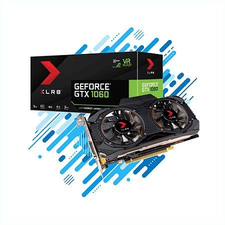 Geforce PNY GTX 1060 Dual Fan Entusiasta Nvidia 3GB DDR5 192BIT DVI HDMI Gamer