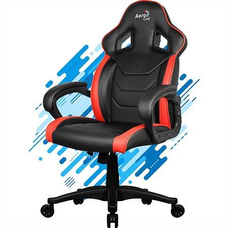 Cadeira Gamer Aerocool AC60C AIR EN57730 Preto-Vermelho