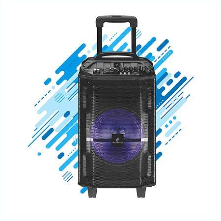 Caixa de Som Amplificadora Goldentec 150W RMS GT Sound Pro, USB, MP4, Bluetooth, FM - Preta