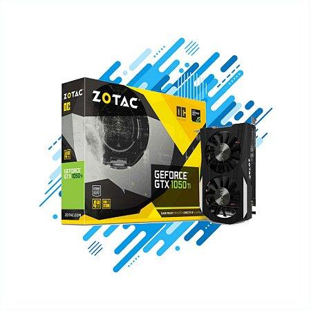 Placa de Video Zotac GTX 1050TI OC EDITION 4GB DDR5 128BIT CUDA CORES DVI HDMI Gamer