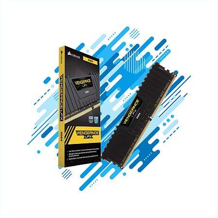MEMORIA DESKTOP CORSAIR GAMER DDR4 4GB VENGEANCE LPX CMK4GX4M1D2400C14 2400MHZ DIMM CL14 BLACK