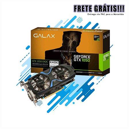 PLACA DE VIDEO GALAX GAMER NVIDIA GTX 1050 EXOC 2GB DDR5 128BIT PCI-E 3.0 DVI HDMI DP