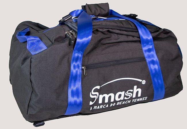 Raqueteira Smash by Wollner Grande Preta com Azul