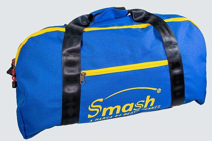 Raqueteira Smash by Wollner Media Azul Royal com Amarelo