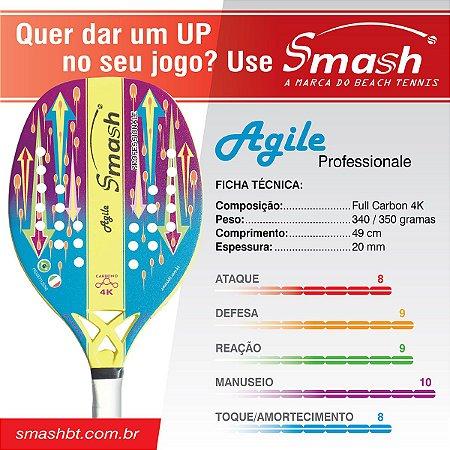 Raquete de Beach Tennis Agile Profissional