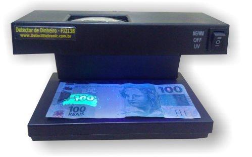 Máquina de detectar notas e documentos falsos FJ2138 Detect Eletronic