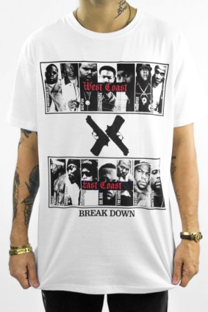 T-shirt Rap Gangsta branca