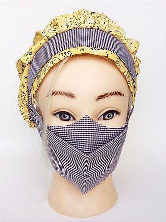 Conjunto Touca de cozinha com máscara