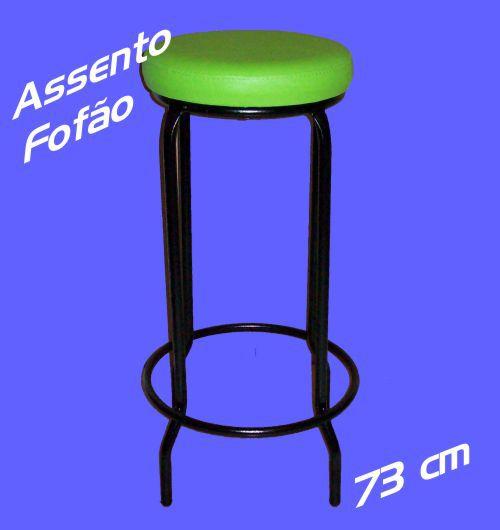 Banqueta Alta sem Encosto 73 Cm Assento Fofão