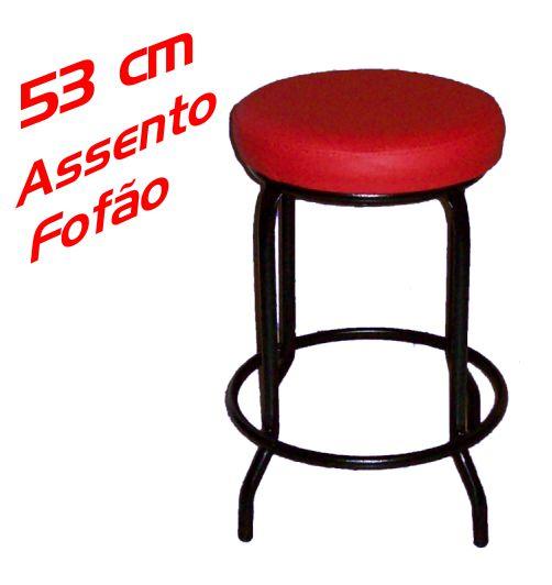 Banqueta Baixa sem Encosto 53 Cm Assento Fofão