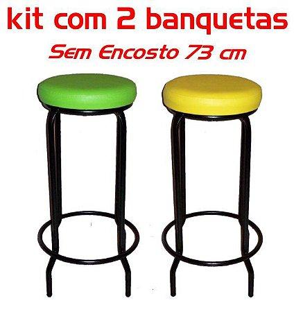 Banqueta Alta sem Encosto 73 Cm Assento Fofão (2 unidades)