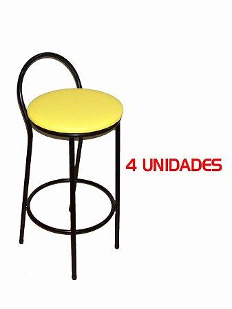 Banqueta Bar Fixa 70 cm Tubinho (4 unidades)