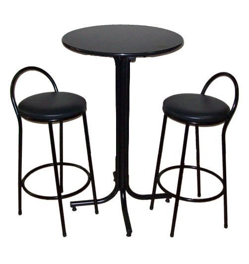 Conjunto Mesa Bistrô Alta com 2 Banquetas Bar