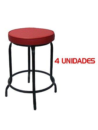 Banqueta Baixa sem Encosto 53 Cm Assento Fofão (4 unidades)