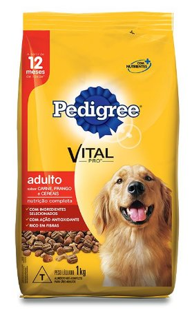 Ração Pedigree Vital - Pro Adulto Carne, Frango & Cereais