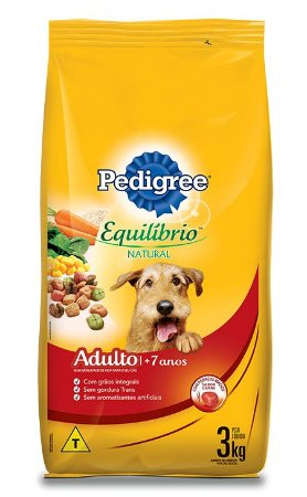 Rações Pedigree Equilibrio Natural Sênior