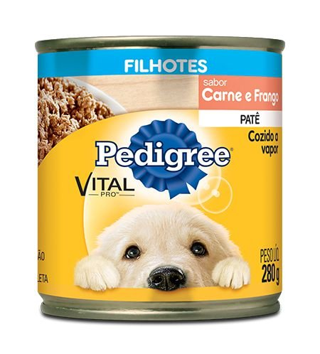 Ração Pedigree Lata Vital - Pro Filhote Patê Sabor Carne e Frango - 280gr