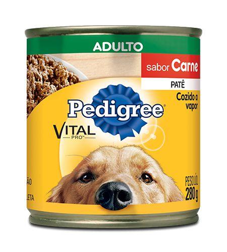 Ração Pedigree Lata Vital - Pro Adulto Patê Sabor Carne - 280gr