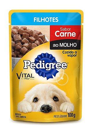 Ração Pedigree Sachê Vital - Pro Filhote Sabor Carne Ao Molho - 100gr