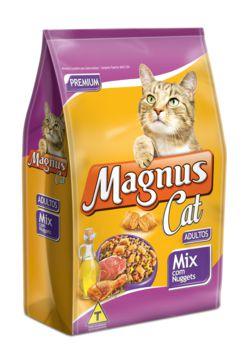 Ração Adimax Pet Magnus Para Gatos Adultos Sabor Mix com Nuggets