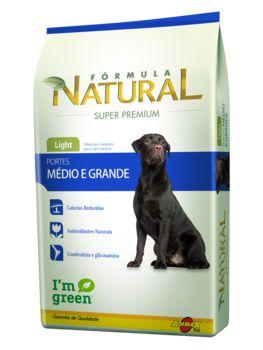 Ração Adimax Pet Fórmula Natural Light Para Cães Adultos de Raças Médias e Grandes - 14,0kg