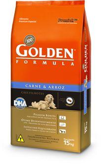 Ração Golden Formula Para Cães Filhotes Sabor Carne e Arroz