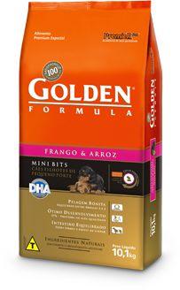 Ração Golden Formula Mini Bits Para Cães Filhotes de Raças Pequenas Sabor Frango e Arroz