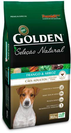 Ração Golden Seleção Natural Mini Bits Para Cães Adultos de Raças Pequenas Sabor Frango e Arroz