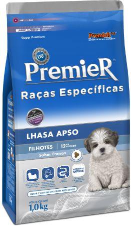 Ração Premier Para Cães Filhotes da Raça Lhasa Apso Sabor Frango