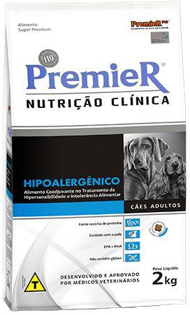Ração Premier Nutrição Clinica Hipoalergênico Para Cães Com Problemas Alérgicos