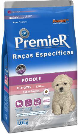 Ração Premier Para Cães Filhotes da Raça Poodle Sabor Frango - 1,0kg