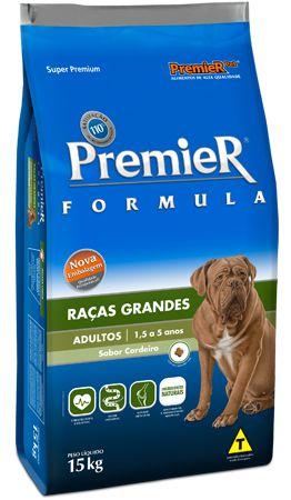 Ração Premier Formula Para Cães Adultos de Raças Grandes Sabor Cordeiro - 15,0kg