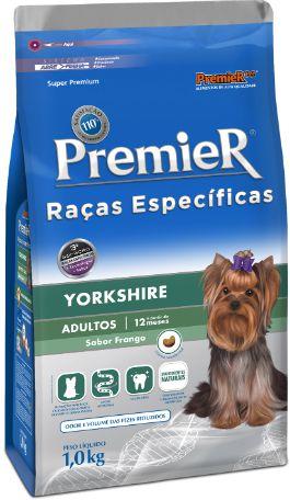 Ração Premier Para Cães Adultos da Raça Yorkshire Sabor Frango