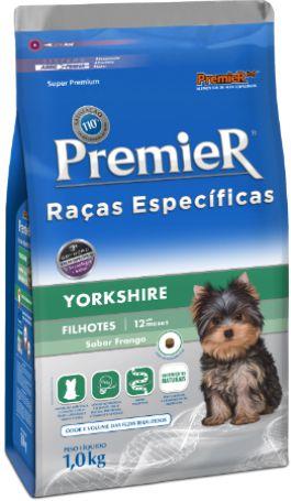 Ração Premier Para Cães Filhotes da Raça Yorkshire Sabor Frango