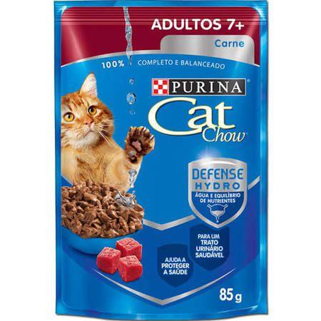 Ração Purina Cat Chow Para Gatos Adultos a Partir de 7 anos Sabor Carne Sachê