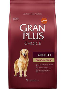 Ração Gran Plus Choice Para Cães Adultos Sabor Frango e Arroz - 15,0kg