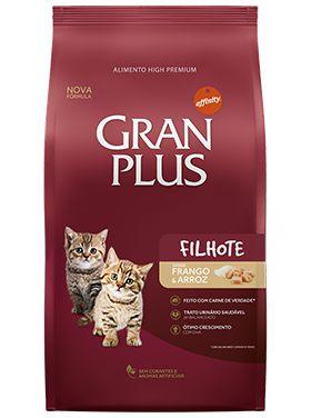 Ração Gran Plus Para Gatos Filhotes Sabor Frango e Arroz