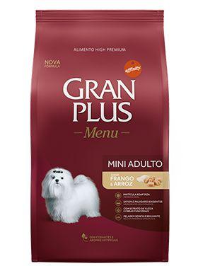 Ração Gran Plus Menu Para Cães Adultos de Raças Pequenas Sabor Frango e Arroz