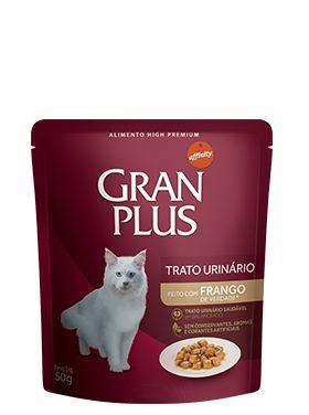Ração Gran Plus Para Gatos Adultos Tratamento Urinário Sabor Frango Sachê - 85gr